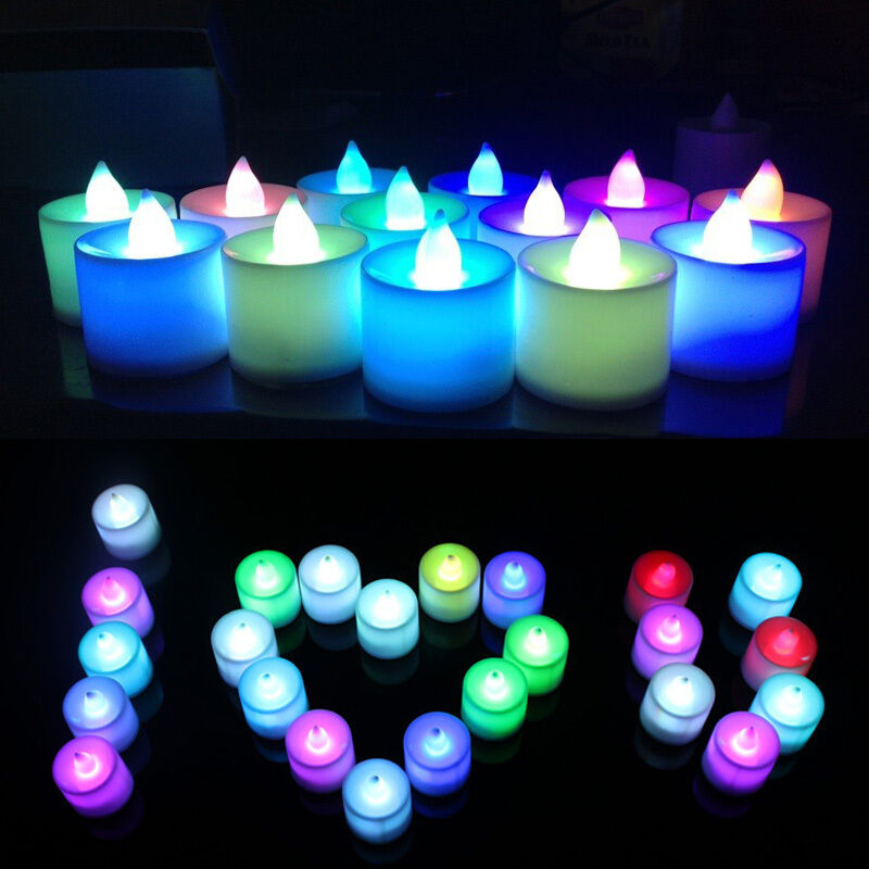 7 colors flameless flickering led light candles battery wedding christmas decor ebay - Appealing christmas led candles for christmas decorations ...
