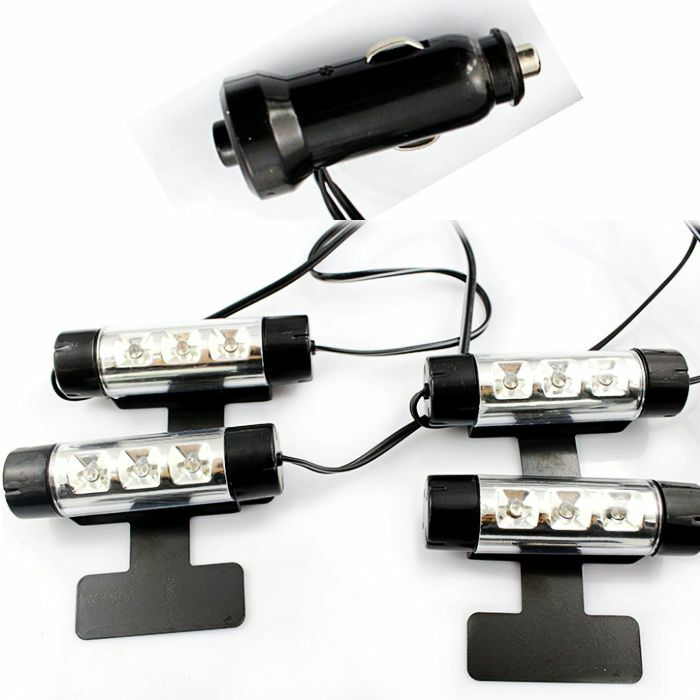 12v cigarette lighter blue auto car led interior footwell light 12 leds lamp ebay. Black Bedroom Furniture Sets. Home Design Ideas