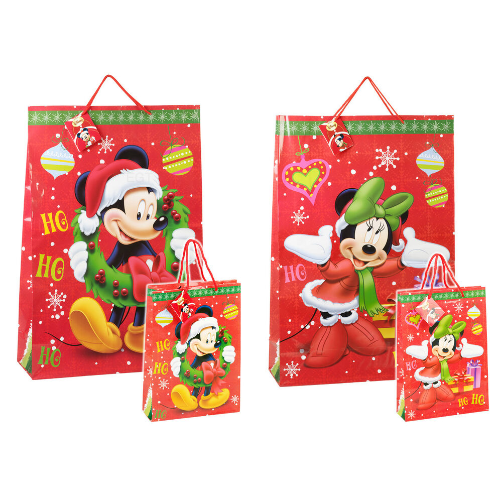 4 x childrens disney themed cartoon christmas xmas paper for Paper christmas gifts