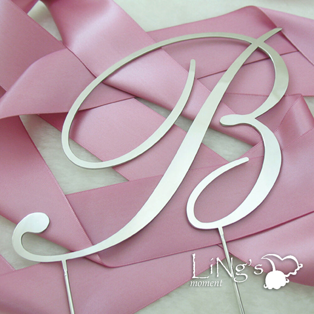wedding cake topper letters initial monogram cake topper silver letter a to z wedding 8806