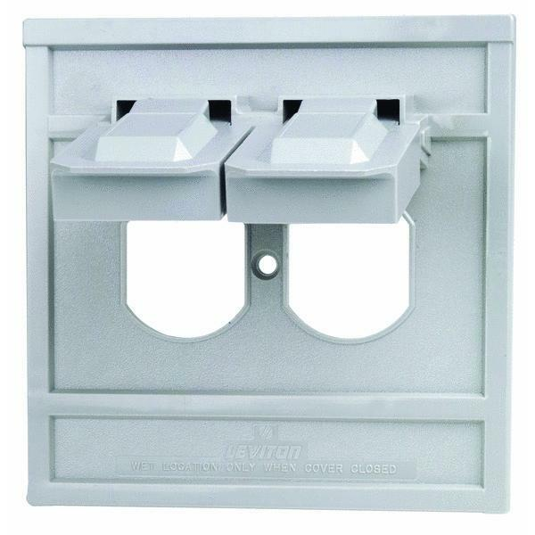 gray outdoor oversized outlet cover by leviton 0004986gy ebay. Black Bedroom Furniture Sets. Home Design Ideas