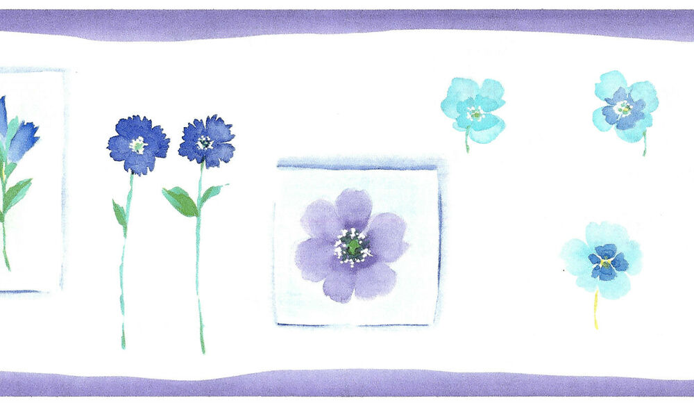 White Purple Floral Bathroom Bedroom Flower Cute Blue Nice