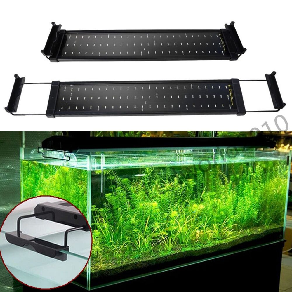 Adjustable aquarium fish tank over head lamp 36 72 smd led for Fish tank lighting