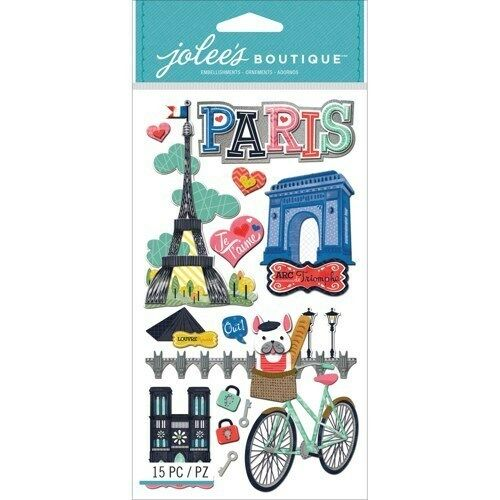 Jolee 39 s paris 3d scrapbook stickers ebay - Scrapbooking paris boutique ...