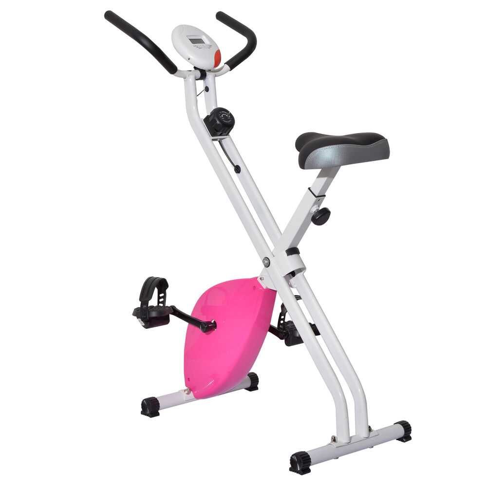 soozier folding magnetic upright bike fitness exercise bicycle cycling machine ebay. Black Bedroom Furniture Sets. Home Design Ideas