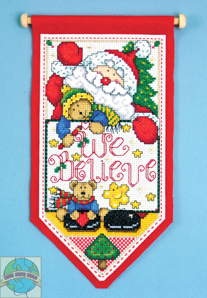 Counted Cross Stitch Christmas Stocking Kit
