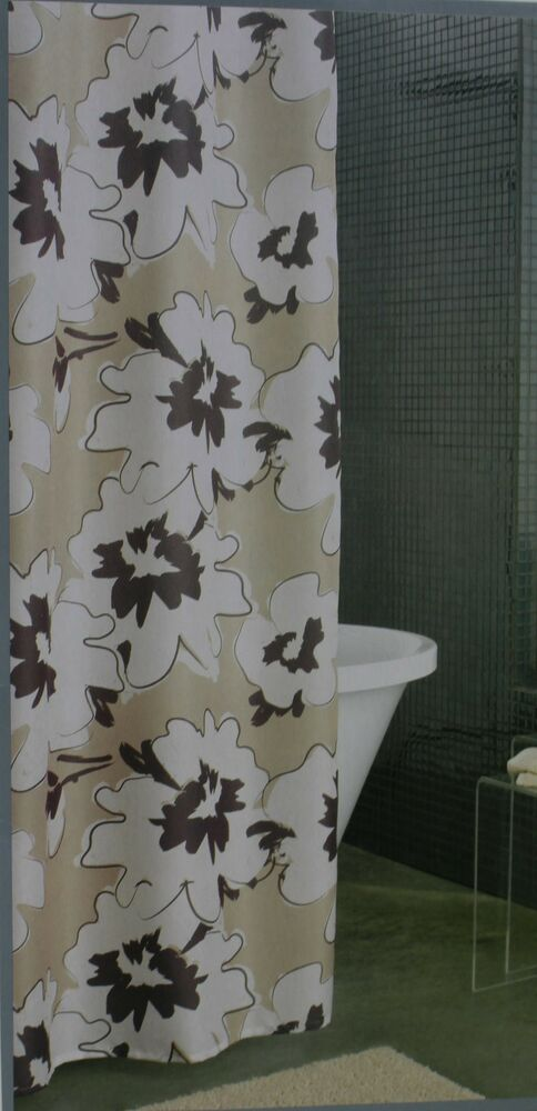 Apt 9 Tan Amp Gray Floral Flourish Shower Curtain 70x72 NIP