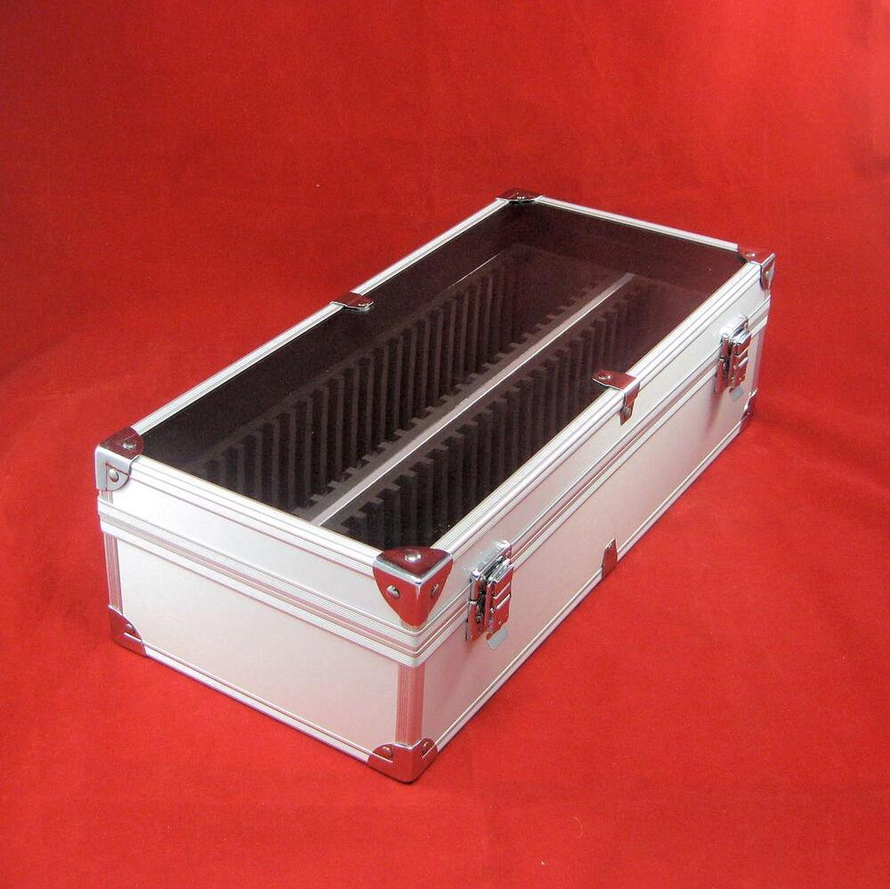Aluminum certified coin slab storage box holds up to 50 for Money storage box