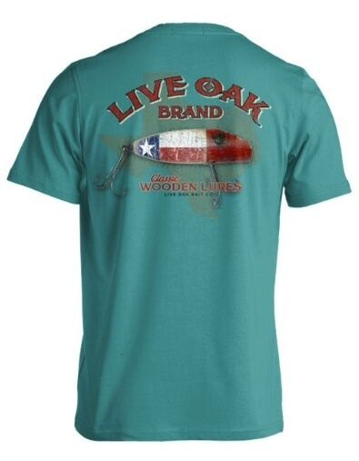 Live oak brand t shirt comfort color texas fishing lure for Fishing t shirts brands