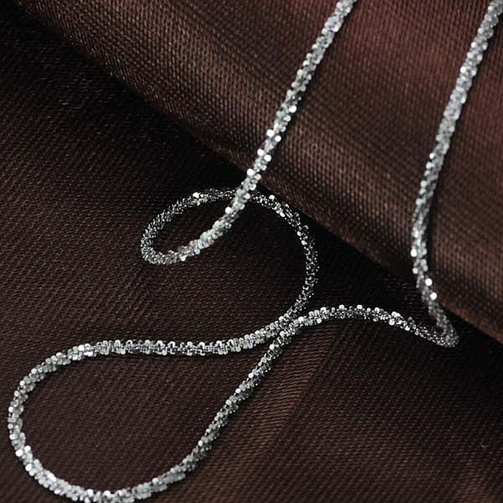 White Gold Chain Bracelet: J.Lee 18INCH Solid 18K White Gold Necklace Special Bling