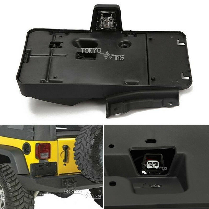 1x 68064720aa Rear License Plate Holder Light For Jeep