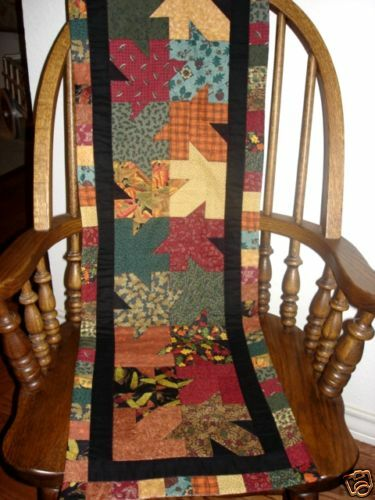 Maple Leaf Quilt Pattern Table Runner : INSTRUCTIONS 4 MAPLE LEAF FALL AUTUMN TABLE RUNNER~QUILT PATTERN~NOVEMBER YEAR 1 eBay