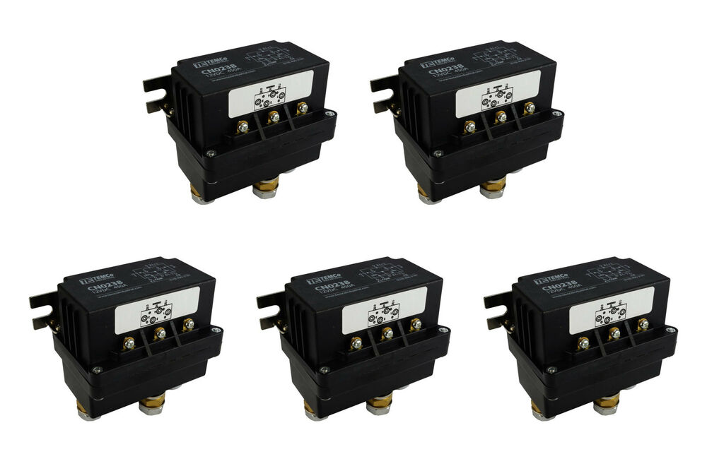 5x temco 450a dc winch motor reversing solenoid relay. Black Bedroom Furniture Sets. Home Design Ideas