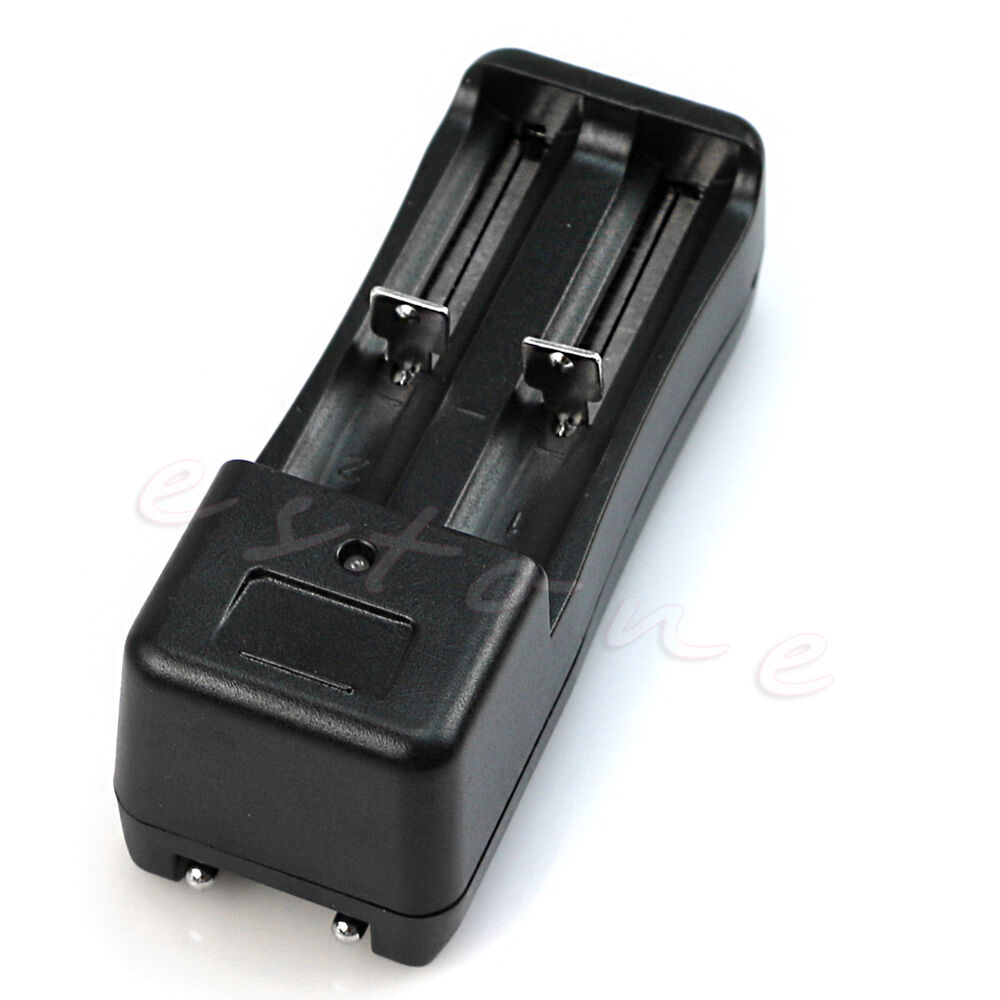 universal dual battery charger for 18650 18350 16340 14500. Black Bedroom Furniture Sets. Home Design Ideas
