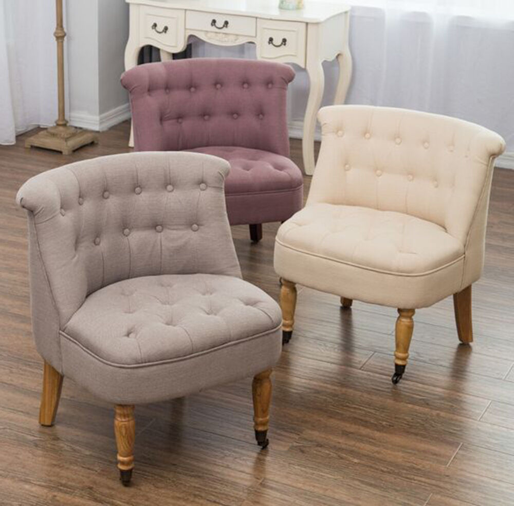 bedroom accent chair armchair occasional button back linen boudoir