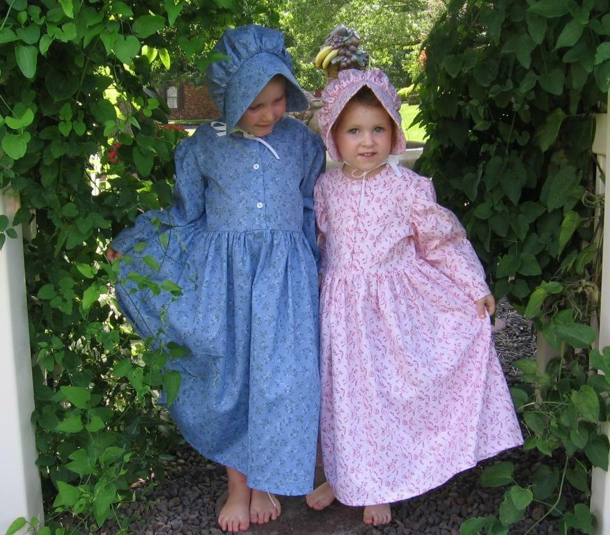 Girl Size 8 10 12 14 Old Fashioned Pioneer Prairie Dress Bonnet In Stock Ebay