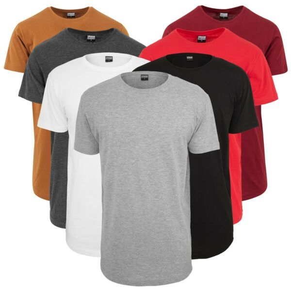 Urban Classics Herren T-Shirt Shaped Long Tee extra lang oversize Shirt TB638