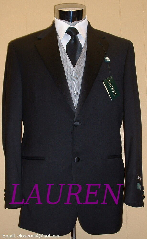 Ralph Lauren New Tuxedo Black Wool Coat Big Tall Other