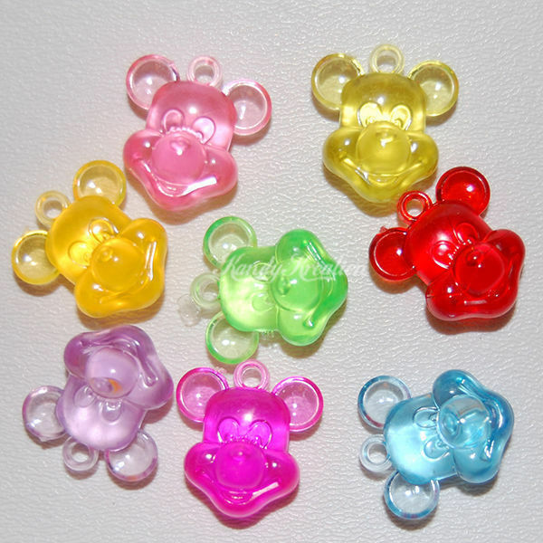 Kid Craft Beads: 15 Mickey Mouse Charms For Kandi Bracelets Kid Disney