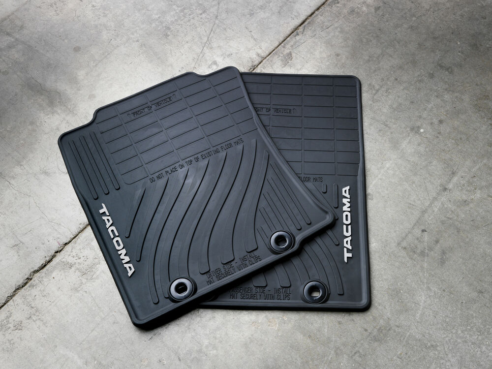 2012 2013 2014 2015 Tacoma Floor Mats Rubber All Weather