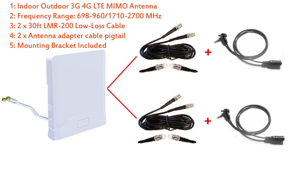 3g 4g lte mimo antenna for netgear fuse mobile hotspot ac779s at t unite express ebay. Black Bedroom Furniture Sets. Home Design Ideas