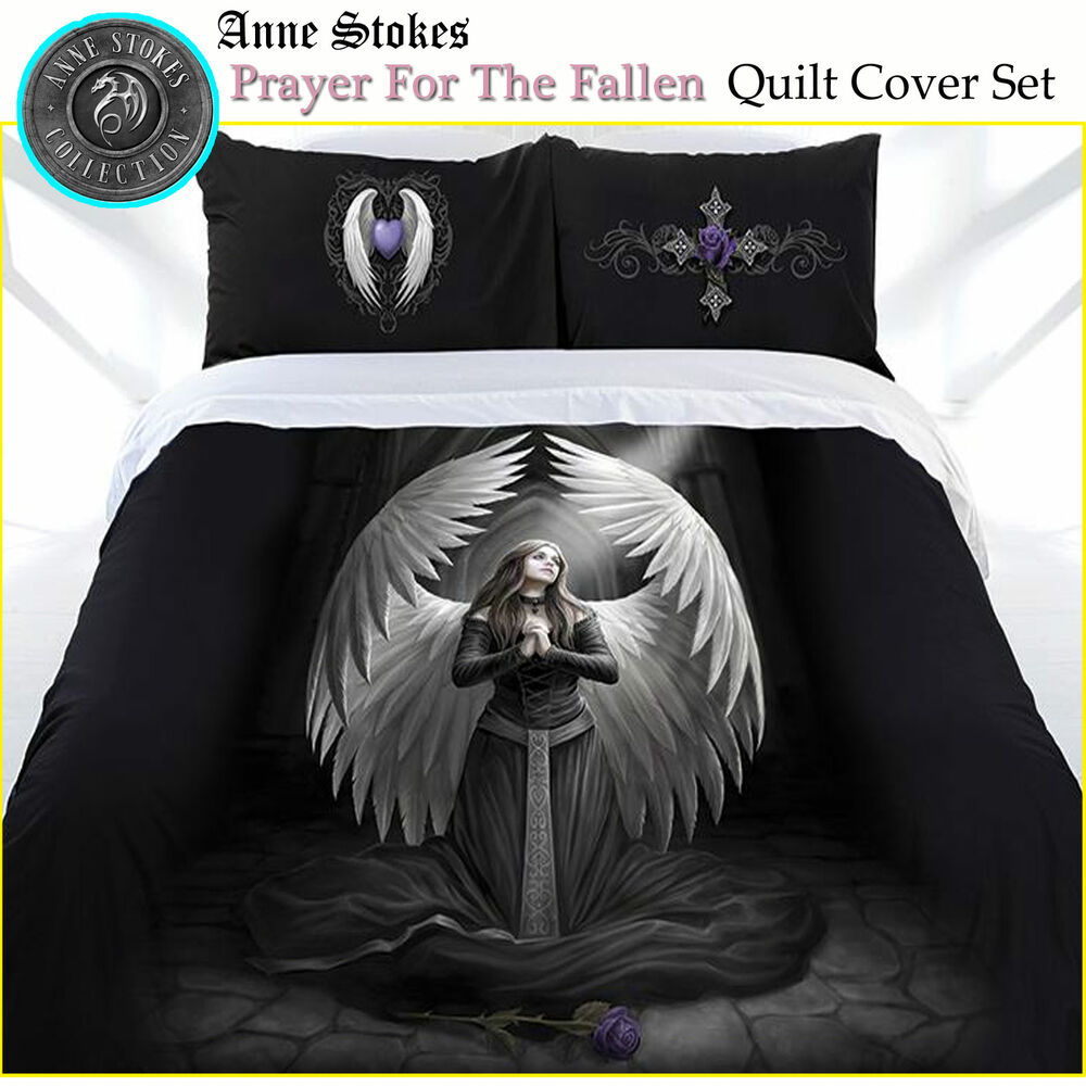 Anne Stokes Prayer For The Fallen Gothic Quilt Doona Cover