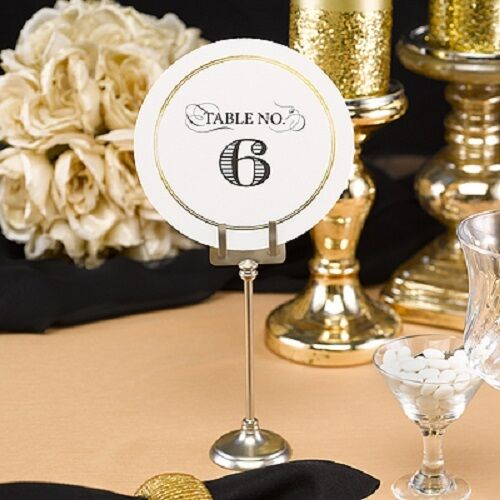 1 40 golden elegance round wedding table numbers ebay for Table numbers