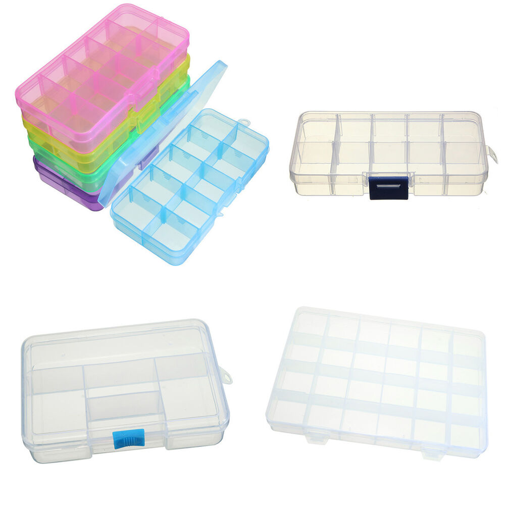 Plastic craft beads jewellery storage organiser for Craft storage boxes plastic