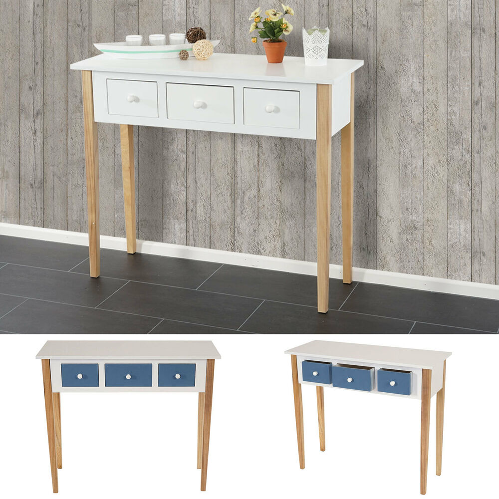kommode malm t266 beistelltisch schrank retro design 77x90x34cm blau wei ebay. Black Bedroom Furniture Sets. Home Design Ideas