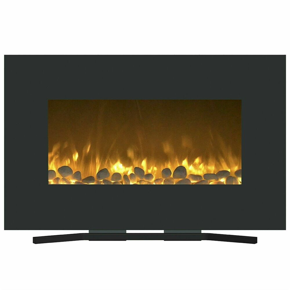 Color Changing Electric Fireplace Wall Mount And Stand Remote 36 X 22 Inch Ebay