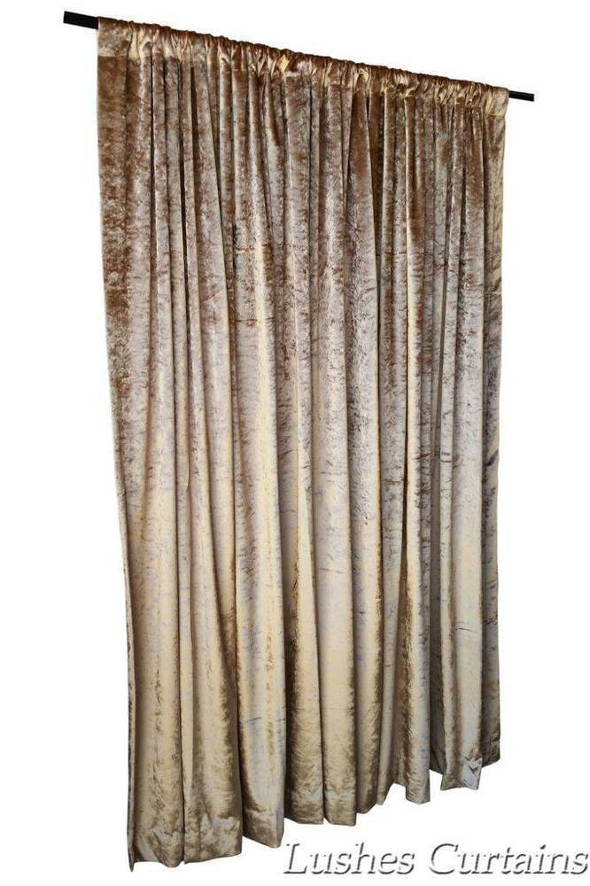 Gold Velvet Curtain 96 Quot H Thermal Window Treatment Panel
