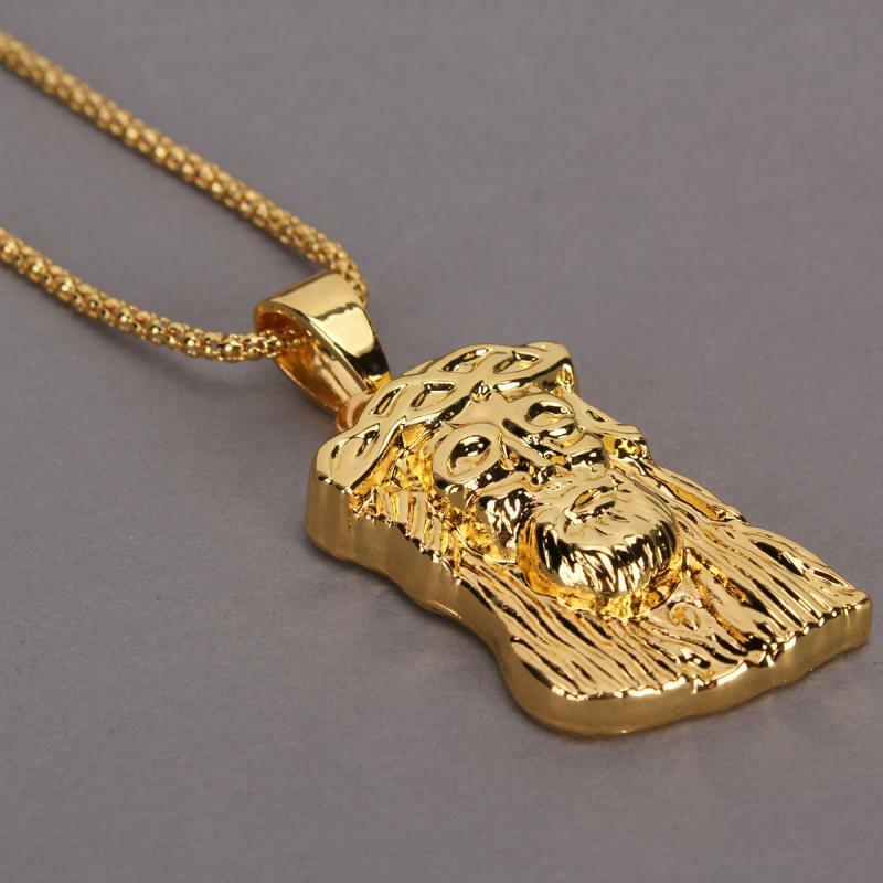 charm boy hip hop necklace 18k gold necklace