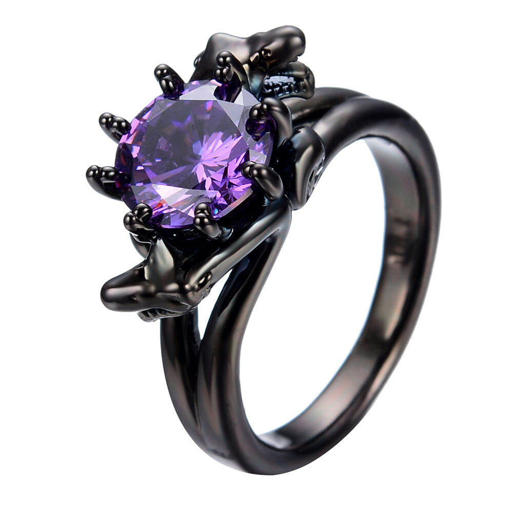 Snake Head Purple Amethyst Wedding Ring 10kt Black Gold. Blue Oval Engagement Rings. Football Rings. French Engagement Rings. Lab Grown White Engagement Rings. Woman Gold Engagement Rings. Hebrew Engagement Rings. Utpa Rings. Woman's Finger Wedding Rings