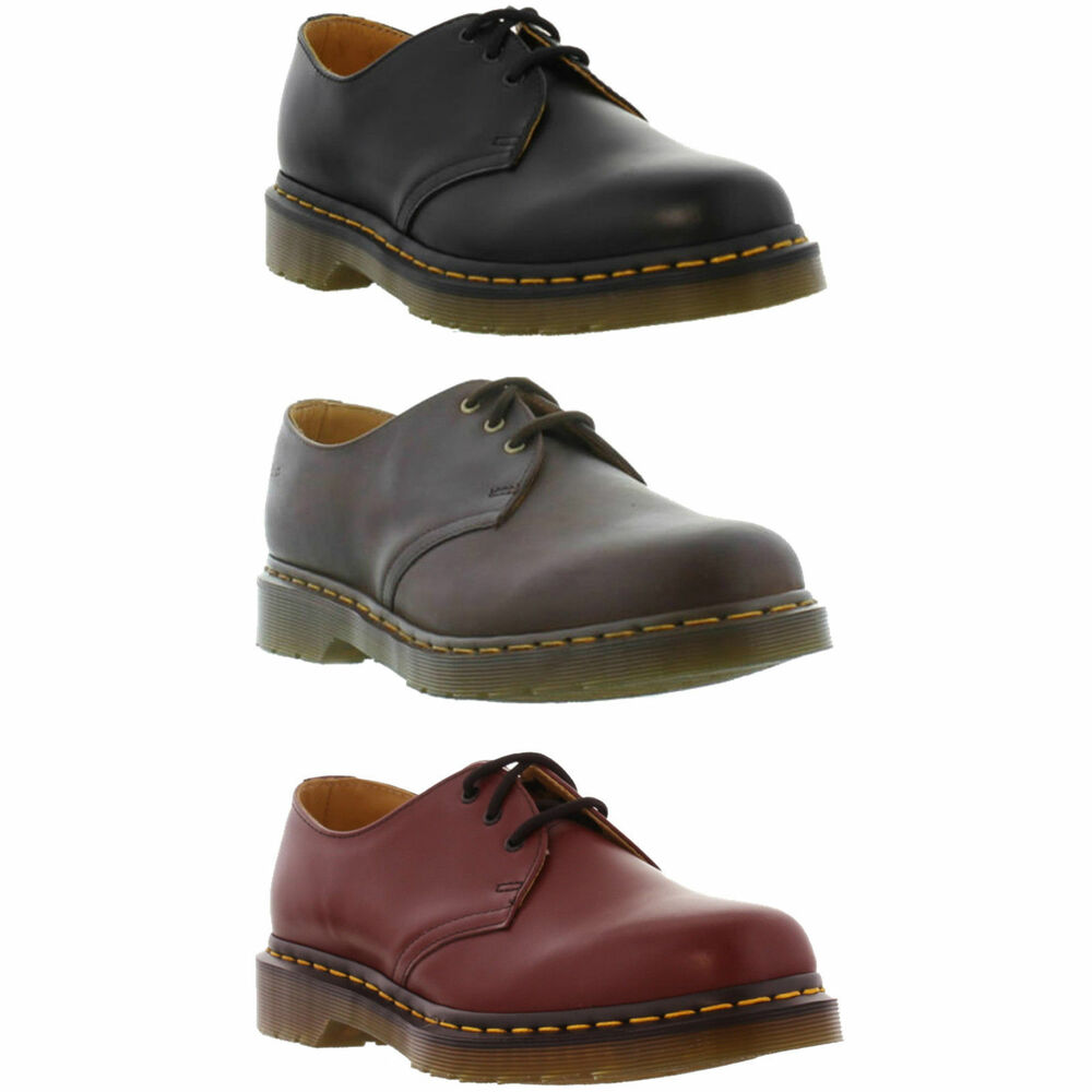 dr martens 1461 z mens womens classic black red leather shoes size 3 13 ebay. Black Bedroom Furniture Sets. Home Design Ideas