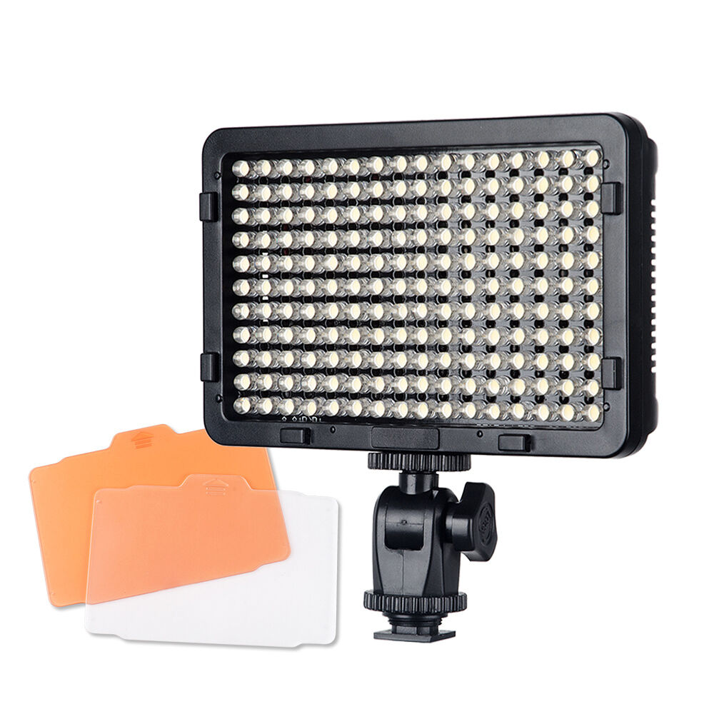 portable 176 led light panel photo video studio dimmer lighting panel ebay. Black Bedroom Furniture Sets. Home Design Ideas