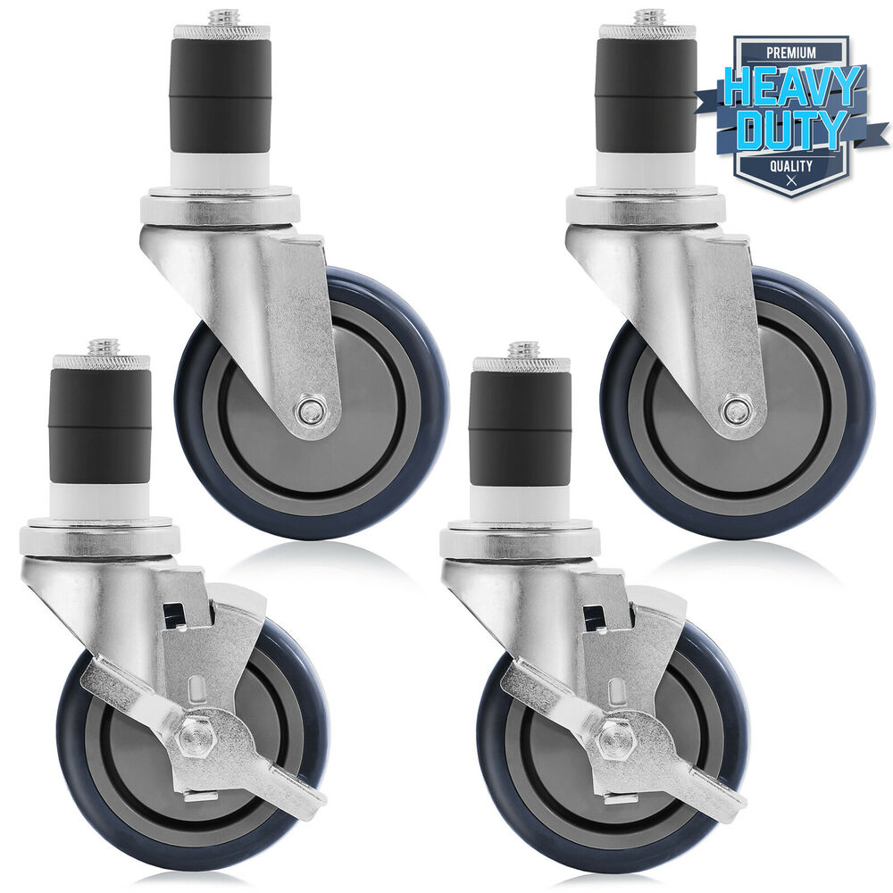 4 Quot Caster Wheel Set For Commercial Stainless Kitchen Prep