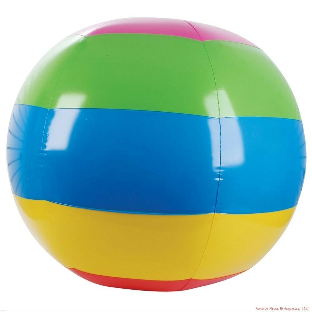 3 Huge 48 Inch 4 Foot Beach Ball Inflatable Pool Ball