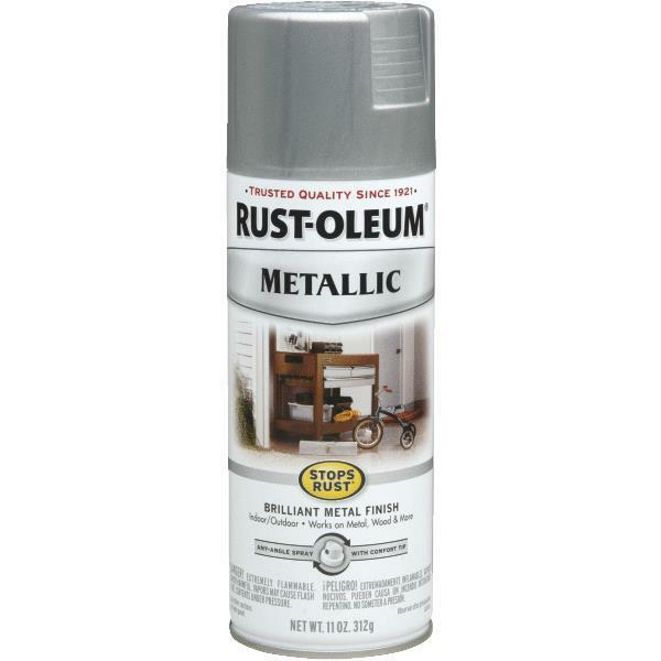rustoleum stops rust silver metallic gloss spray paint 7271 830 ebay. Black Bedroom Furniture Sets. Home Design Ideas