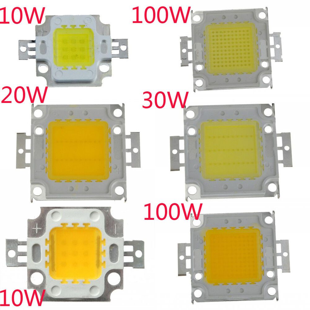 20w Smd Led 12v: SMD 10W 20W 30W 50W 100W High Power LED Chips Bulb Panel