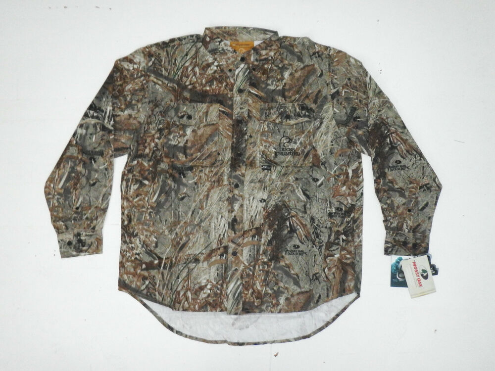 Ducks Unlimited Camo Hunting Shirt New Mens Large L Mossy