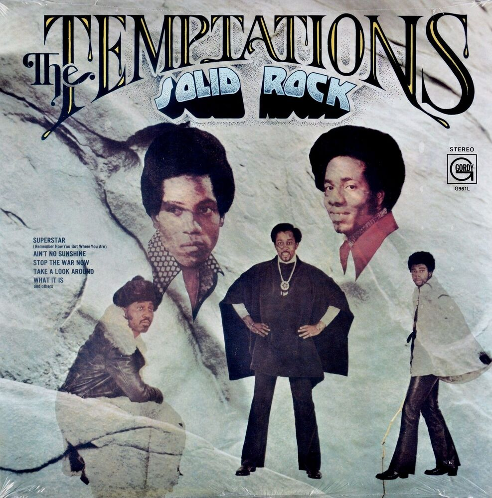 The Temptations Solid Rock Gordy Stereo New Sealed Vinyl