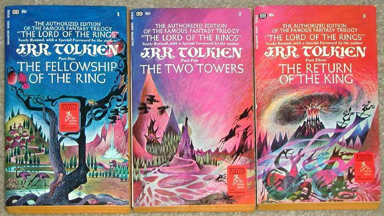 Matched Series Book Cover : Lord of the rings trilogy tolkien triptych cover clean