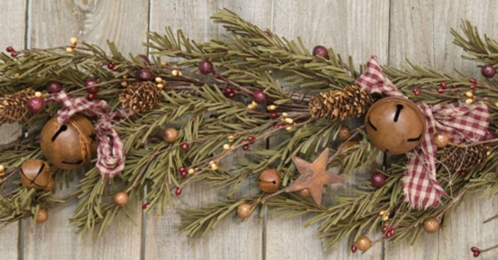 RUSTIC HOLIDAY GARLAND APPROX 4 FEET LONG PINE CONES RUSTY ...
