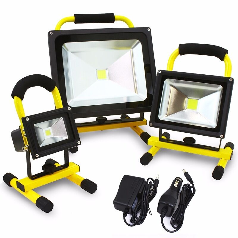Led Flood Light Rechargeable 20w: Portable 50W 20W 10W COB Super Bright LED Work Light