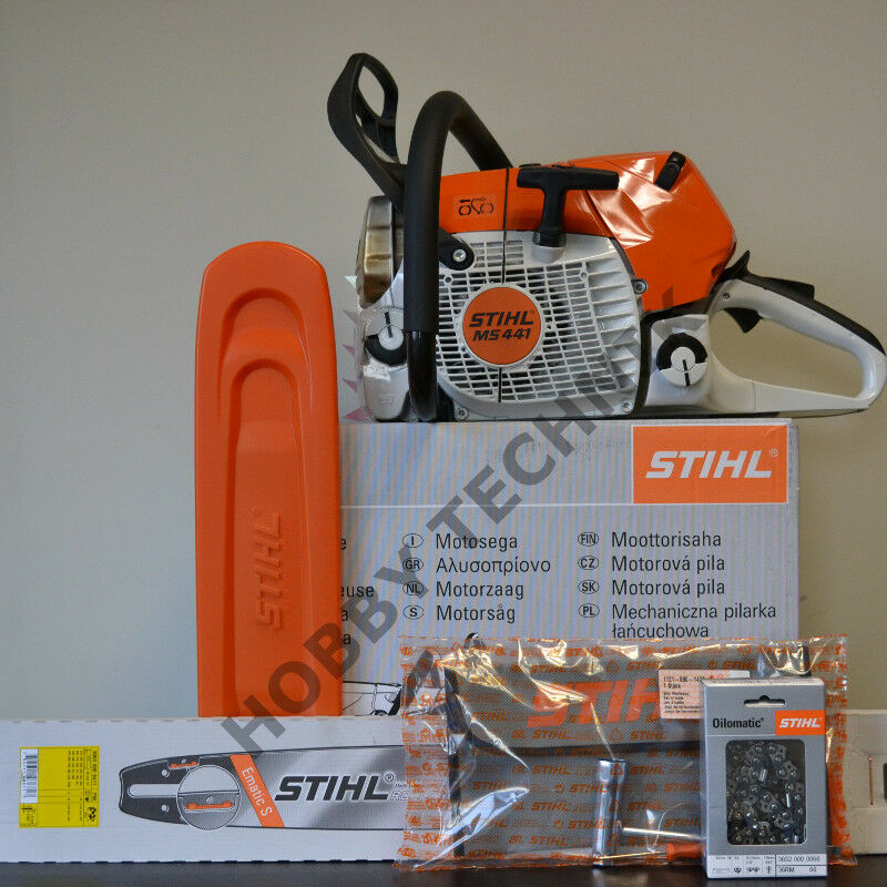 stihl ms 441 45cm 1xschwert 1xkette 461 661 362 391 261 271 ebay. Black Bedroom Furniture Sets. Home Design Ideas