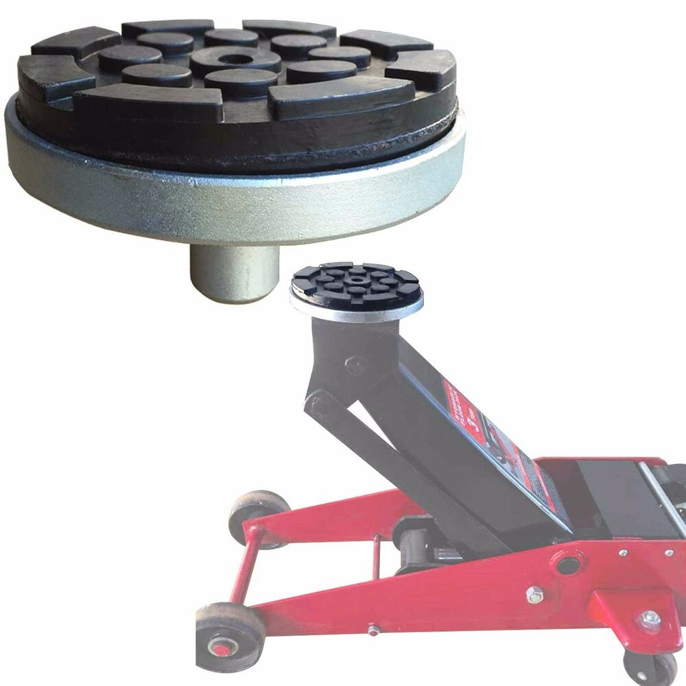 Floor Jack Adapter With Round Rubber Pod Ebay