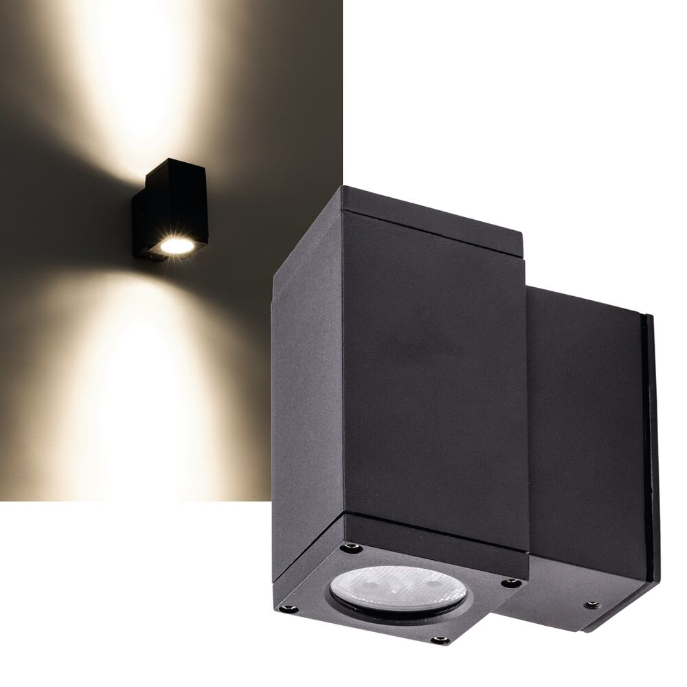 led wandleuchte 500lm ip54 230v 6w eek a aussenleuchte wand lampe wand strahler ebay. Black Bedroom Furniture Sets. Home Design Ideas