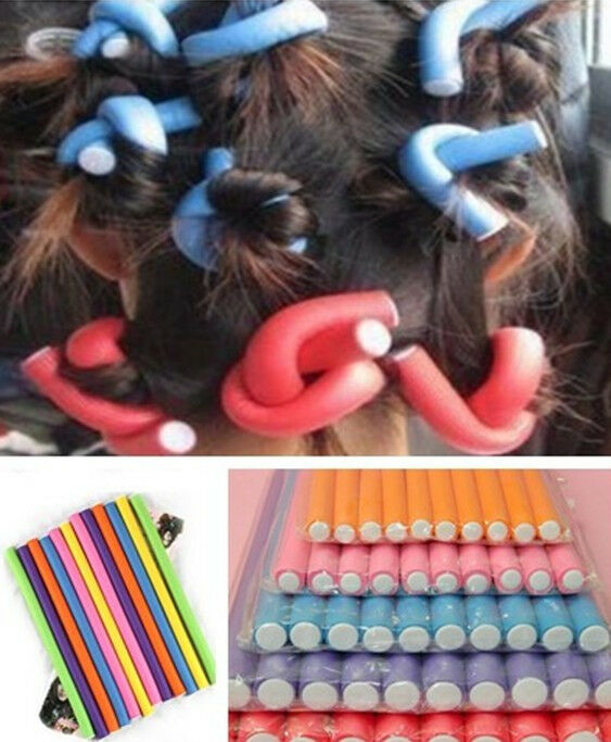 10pcs Mixed Curler Makers Foam Bendy Twist Curls Diy