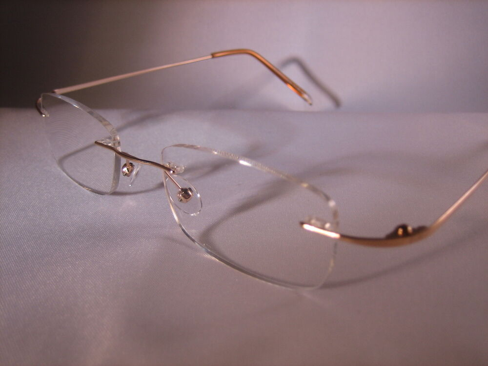Glasses Invisible Frames : FRAMELESS READING GLASSES - Almost Invisible #1098 eBay