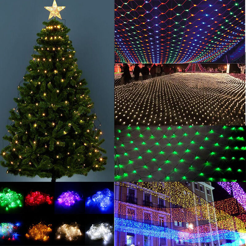 How To String Lights On A Large Christmas Tree : Net Light Christmas Tree 1.5M-4.5M LED Xmas Wedding Party String Light Outdoor eBay